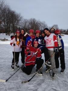 Pond hockey with the boys!